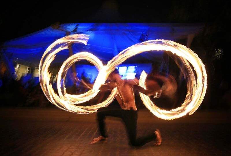 Fireshow at Aonang Villa Resort