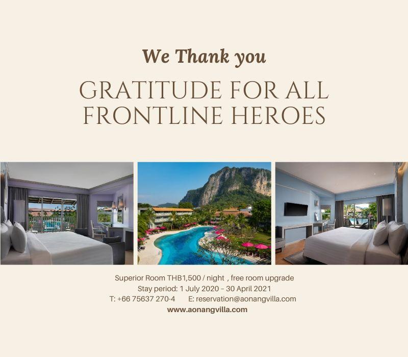 thank frontline hero-aonangvillaresort-krabi-thailand